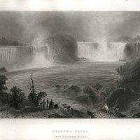 William H. Bartlett, Niagara Falls (From near Clifton House), Steel engraving, Overall: 10 1/2 x 8 1/4in. (26.7 x 21cm), Collection of Art in Embassies, Washington, D.C.; Gift of the Foundation for Art & Preservation in Embassies, Washington, D.C.