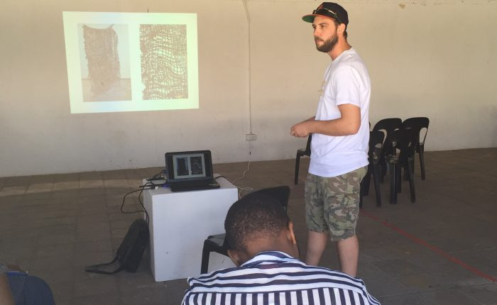 Peter presenting in advance of workshop at Thapong Visual Arts Centre