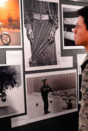 cadet-viewing-exhibit-in-gallery