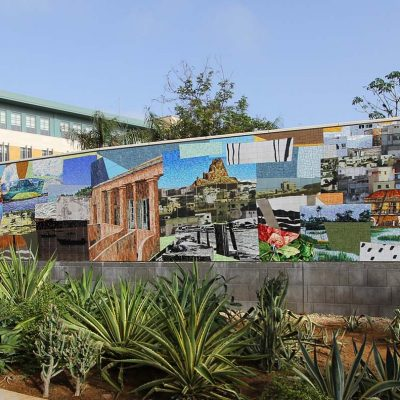U.S. Embassy Dakar mural by Mickalene Thomas