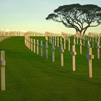 My family's apartment in Manila was located in Fort Bonafacio, quite close to the American Cemetery. One afternoon, when the light was perfect, I spent a couple of hours at the site, exploring it and taking pictures. The size and solemnity of the site was humbling and overwhelming. When I look at this photo, I experience anew the emotions I felt six years ago. The American Cemetery Philippines is the largest of World War II, with over 17,000 graves. It exemplifies loss -- but not pointless loss; rather, meaningful, purposeful loss in pursuit of an eventual triumphant cause.