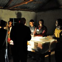 Counting the Votes - Western Province - Kenya.