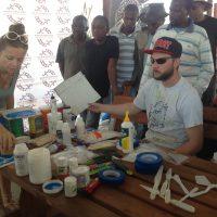 Peter doing a short demonstration in workshop at TVAC.