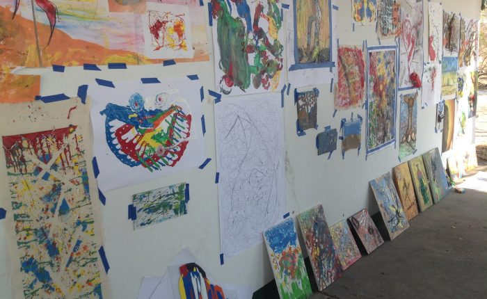 Results of abstract expressionism workshop.