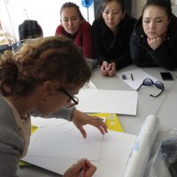Alexis at her workshop with the Tumar Art Group