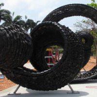 Chakaia Booker work in Cotonou