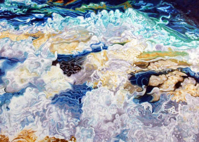 Jan Aronson, Water Series, #15, 2008, Oil on Canvas, Courtesy of the artist, New York, New York