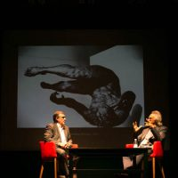 Eric Fischl during the Contemporary Conversation lecture at the National Gallery Canada