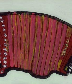 Gordon Chin, Zither, 2006, Acrylic on plexiglas, Courtesy of the artist and Creativity Explored, San Francisco, California