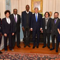 Medal of Art awardees with Secretary Kerry