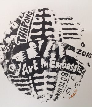 Art in Embassies logo designed by workshop participant