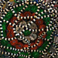 Detail of beads Nick Cave work Dakar
