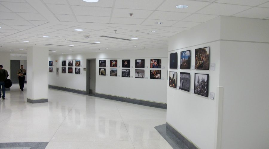 Serving Abroad...through their eyes exhibit in the Pentagon