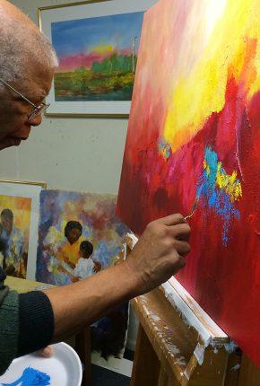 Johnny Johnson painting