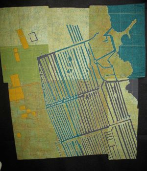 Leah Evans, Cooling Canals, 2010, Quilt, Courtesy of the artist, Madison, Wisconsin