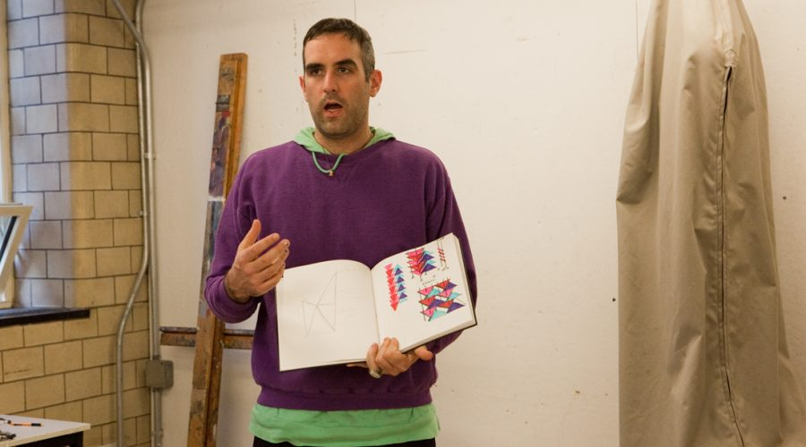 Jim Drain teaching at RISD