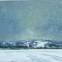 J. Thomas R. Higgins, Hill in Fog, oil on linen, 32 x 36 in.  (81.3 x 91.4 cm), Courtesy of the artist, Readfield, Maine