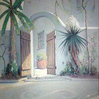 Dawson Dawson-Watson, The Governor's Palace at San Antonio, Texas, Oil on canvas, Framed:  48 5/8 x 38 5/8 x 3 in.  (123.5 x 98.1 x 7.6 cm); Image:  40 x 30 in.  (101.6 x 76.2 cm), Courtesy of Bobbie and John Nau, Houston, Texas
