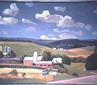 Lars-Birger Sponberg, Mailbox Bouquet, Oil on canvas, 30 x 40 in.  (76.2 x 101.6 cm), Courtesy of the artist, Deerfield, Illinois