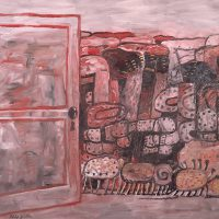 Philip Guston, Entrance, Oil on canvas, Overall: 68 x 80in. (172.7 x 203.2cm), Courtesy of Agnes Gund, New York, New York