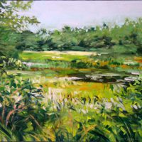 J. Thomas R. Higgins, 12 August 2012, Oil on birch panel, Overall: 16 x 20in. (40.6 x 50.8cm), Courtesy of the artist, Readfield, Maine