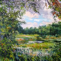 J. Thomas R. Higgins, 13 August 2012, Oil on linen, Overall: 32 x 40in. (81.3 x 101.6cm), Courtesy of the artist, Readfield, Maine