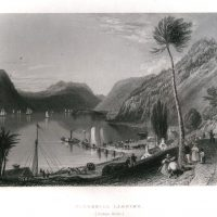William H. Bartlett, Peekskill Landing, Steel engraving, Overall: 10 1/2 x 8 1/4in. (26.7 x 21cm), Collection of Art in Embassies, Washington, D.C.; Gift of the Foundation for Art & Preservation in Embassies, Washington, D.C.