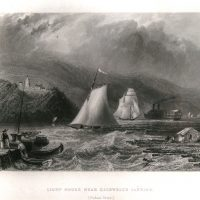 William H. Bartlett, Light House Near Caldwell's Landing, Steel engraving, Overall: 10 1/2 x 8 1/4in. (26.7 x 21cm), Collection of Art in Embassies, Washington, D.C.; Gift of the Foundation for Art & Preservation in Embassies, Washington, D.C.